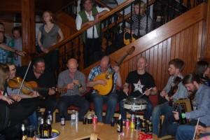 Jam under festivalen på Shetland