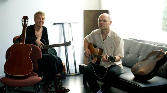 Eliza Gilkyson  og Jens Lysdal. Privatfoto