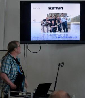 Bjørn Ringgaard præsenterede som vanligt musikken i lyd og billeder.