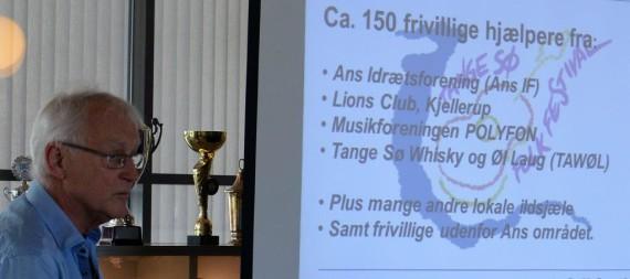 Formanden for Tange Sø Folk Festival  Johannes V. Hansen bød velkommen og fortalte om festivalen.