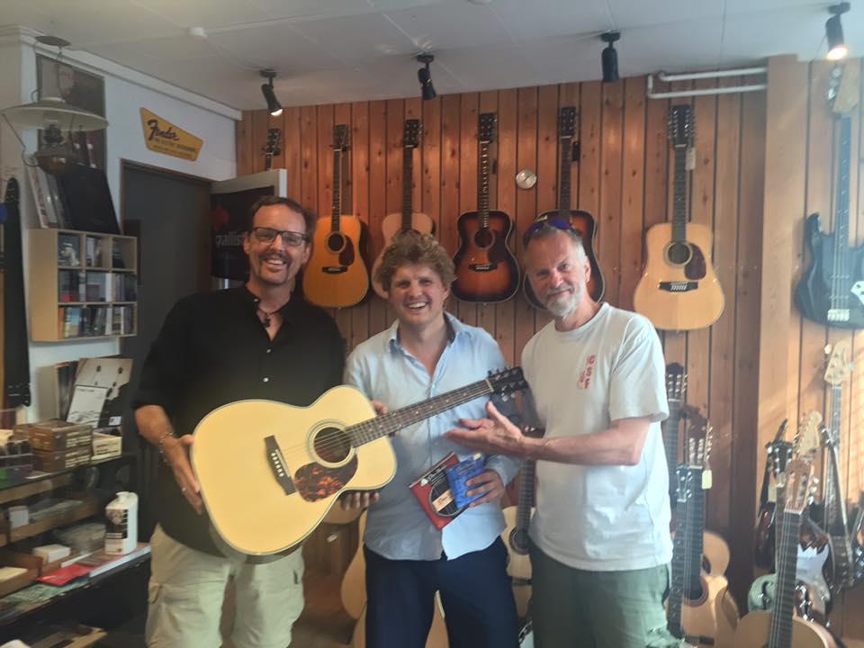 Fra venstre Brett Perkins, Emil Meinild/WoodSound and Martin Tomlinson