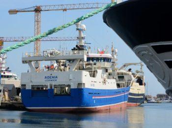 The Revellers ankom til Skagen onsdag med denne båd.