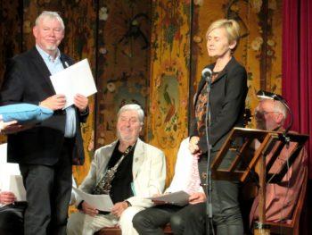 Anders Chr. N. Christensen til venstre og Leonardo Pedersen i midten. plus minister foto allan